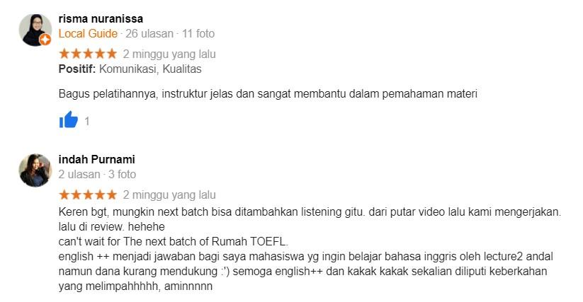 Rumah TOEFL (Testimoni 2)