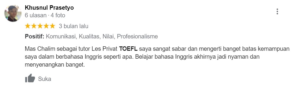 Testimoni Kursus TOEFL 2