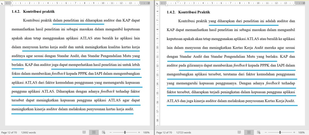 Contoh Proofread Bahasa Indonesia 1