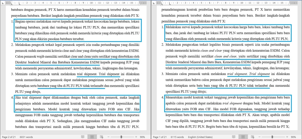 Contoh Proofread Bahasa Indonesia 2